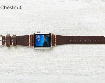 The Lowry Leather Band for Apple Watch Series 1 & 2 - Chestnut 38mm
