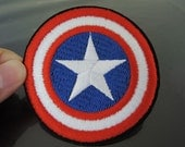 Captain America Patches - Iron on Patches or Sewing on Patch Captain America Shield Patches Full Embroidered Patch Round Star Embellishment