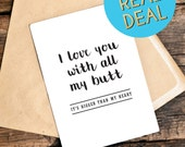 Funny Boyfriend Birthday Card - Birthday Card Boyfriend - Funny Anniversary Cards - I Love You Card - Birthday Card For Him - Sarcastic Card