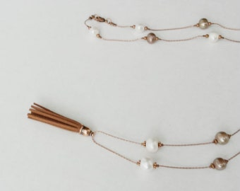 Tassel Freshwater Pearl Necklace Long