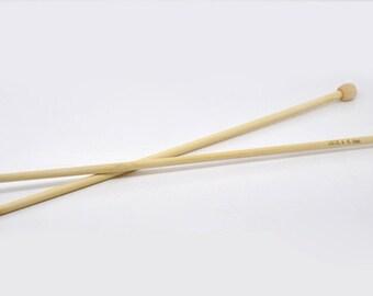 """1 set Bamboo SP Knitting Needle - 13.4"""" - 34cm - US Size 10.5 - 6.5mm"""