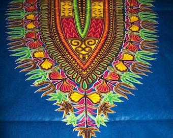 6 Yards Dashiki fabric Dark Blue dashiki fabric/ Dashiki clothing/ African Dashikis/ Dashiki Bags/ Kitenge fabric/ Dashiki panels
