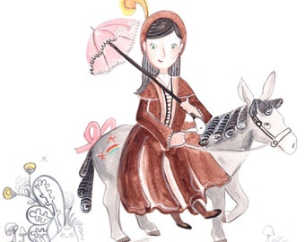 Jane and Blanche - Artwork by Christina Rowe - 8x10 Storybook Art Print - Mangoseed