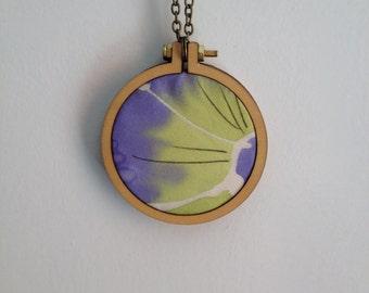 Original textile necklace