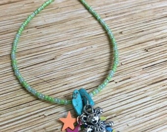 Falling Stars Dancing Bear Hippie Anklet