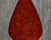 Red Dinosaur Bone Cabochon, Designer Cabochons Handmade by MagicStones