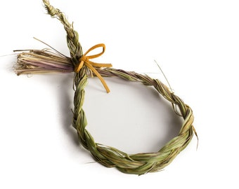 Native American Sweetgrass - Used in smudging rituals, purification rites, welcoming the ancestors, and as a peaceful offering to Gia