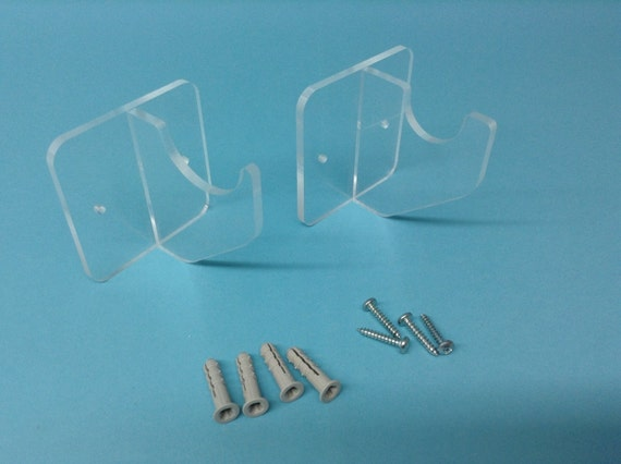 Lightsaber Holder Horizontal Wall Mount Clear Acrylic For