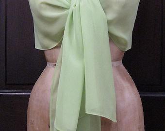 Green Chiffon Shawl Wrap Scarf Sample Sale
