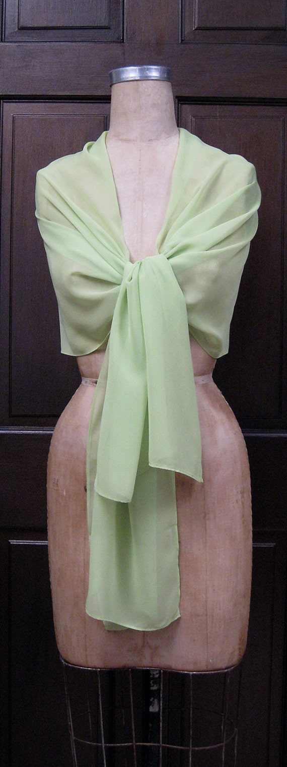 Green Chiffon Shawl Wrap Scarf Sample Sale