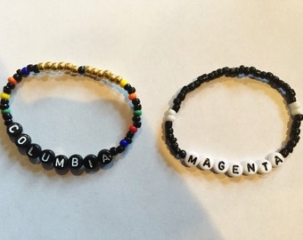 COLUMBIA & MAGENTA (Rocky Horror Picture Show) Beaded Friendship Bracelets