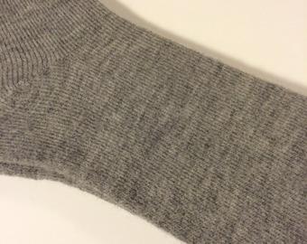 Alpaca Socks - Womens - Light Grey