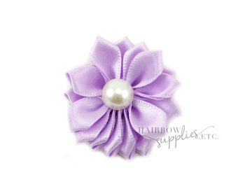Light Purple Dainty Star Flowers with Pearl 1-1/2 inch - Light Purple Fabric Flowers, Light Purple Silk Flowers, Light Puple Hair Flowers