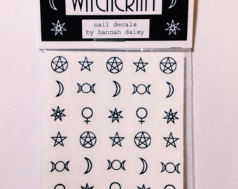 WITCHCRAFT nail decals by Hannah Daisy