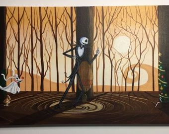 Tribute to A Nightmare before Christmas Whats this-   -  12 x 24, acrylic on canvas,  ORIGINAL by Michael H. Prosper