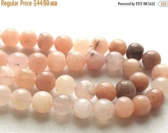 50% VALENTINE SALE Pink Cats Eye Stone, Cats Eye Round Beads, Chrysoberyl Rondelle Beads, 7-8mm Beads, 11 Pieces