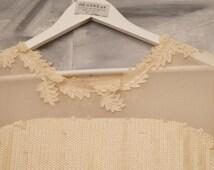 Boho wedding dress - embroidered dress - sequined dress - short wedding dress - Bohemian wedding dress- bridal gown - chiffon dress