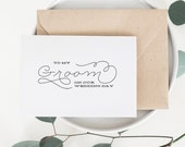 To My Groom On Our Wedding Day, I Can't Wait To Marry You, Wedding Card to Groom, Wedding Day Card, Wedding Cards, Future Husband Card -004