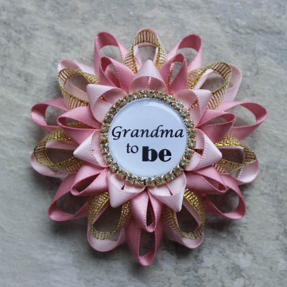 9e855c003 ... Grandmother Baby Shower Gift Ideas: Pink And Gold Baby Shower  Decorations New Grandma Gift