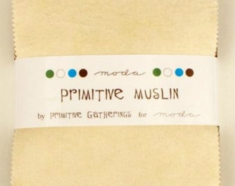 Primitive Muslin by Primitive Gatherings - FLANNEL Charm Pack (F1040PP) - Moda