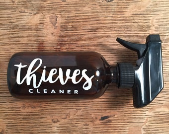 Thieves Cleaner 8oz amber glass spray bottle