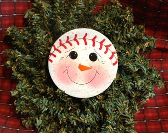 Snowball Ornament or Magnet