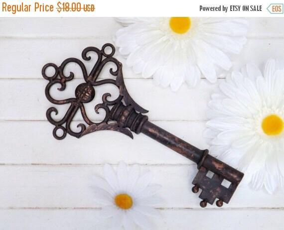 On Sale Large Key Wall Decor Skeleton Key By Theshabbyshak