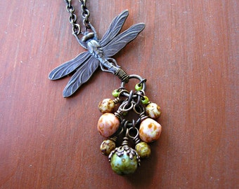 Autumn Dragonfly Necklace
