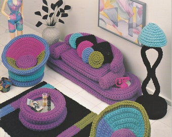 Crochet Pattern Barbie Furniture Couch Chair Parlor Pizazz by Annie's Attic Leaflet 540B
