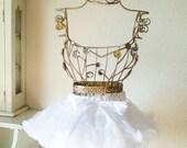 Ready to ship Girls' White Pettiskirt size small - white petticoat- nylon chiffon pettiskirt - chiffon tutu skirt - Girls' Size Small 0-2
