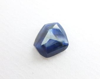 100% natural cornflower blue sapphire cabochon. Unheated / untreated. Tavernier geometric rose cut. 1 pc. 4.40 cts. 9.5x10.5x5.5 mm (S1617)