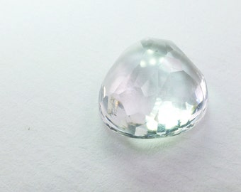 Clear Quartz Cabochon. Natural Quartz Micro Facet Freeform Cab. 1 pc. 13.15 cts. 15x16x8 mm  (QTZ306)