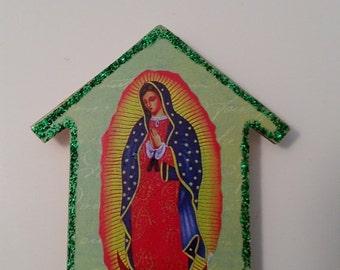 Virgen de Guadalupe Mini House Shrine Magnet