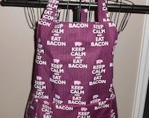 Keep Calm and Eat Bacon Unisex Apron