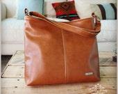 Lauren bag - Tote bag - brown leather bag - brown hobo bag - Custom listing - tote bag - slouch bag