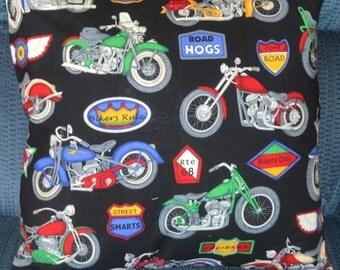Motercycle Pillow Cover, Biker Decor ,16''x16'' Accent Pillow,Throw Pillow Decorative Pillow, Cushion Cover Home Decor