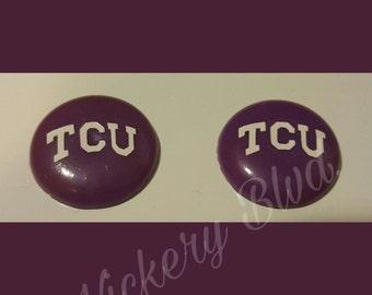 TCU Biggie Bead Earrings