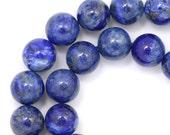 Denim Lapis Lazuli Beads - 8mm Round