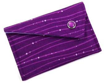 Business Card Holder - Purple Lavender Wavy Lines (LIMITED EDITION)