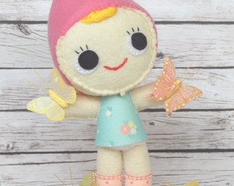Gnome Felt Doll Mariposa / Butterfly