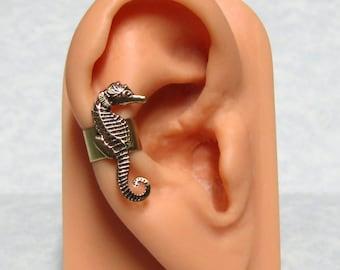 Sea Horse Nautical Ear Cuff ( small right ear )
