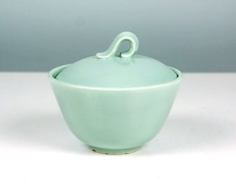 Jubilee by Homer Laughlin Sugar Bowl / Ceramic Bowl / Pastel Blue