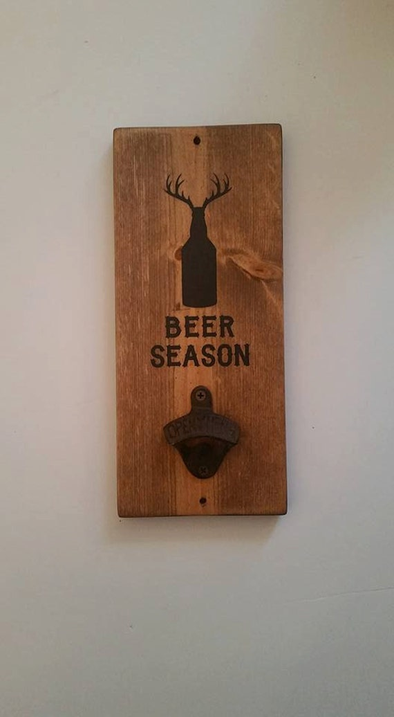 Personalized wall mounted beer bottle opener father 39 s - Personalized wall mount bottle opener ...