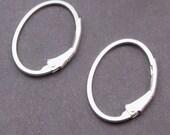 Sterling Silver Interchangeable Hoop Earrings, Silver Hoop Earrings, Sterling Silver Leverback Earrings, Charm Earrings