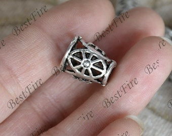 20 pcs of Antique Silver big metal flower bead cups,beadcap findings,beads,findings beads