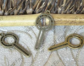 10 pcs Key pendant Connector Antique bronze Tone ,Antique bronze Tone pendant Connector ,Charms Fingdings pendant,jewelry pendant finding