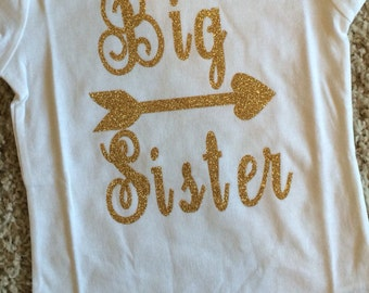 Girls Clothing, Big Sister Shirt