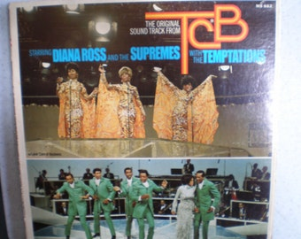 Vintage Mid Century Motown Record - The Supremes & The Temptations - TCB