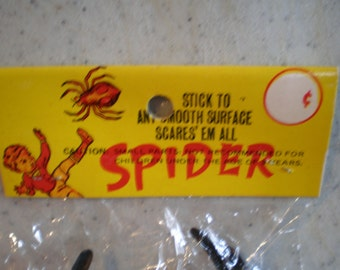 Vintage Mid Century Unused Halloween Spider Decoration
