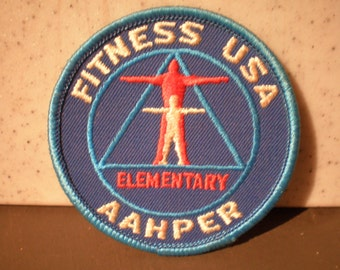 Vintage Mid Century Physical Fitness Patch